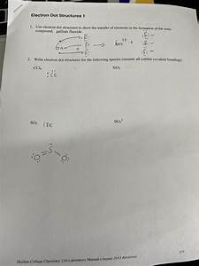 Answered  Electron Dot Structures 1 1  Use U2026