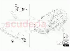 Lamborghini Urus Signal Horn Parts