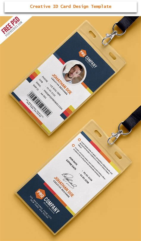 creative id card design examples