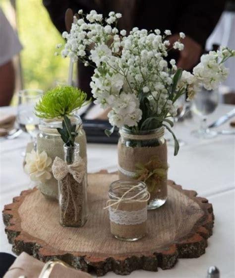 Mason Jar Centerpieces For Wedding Rustic Mason Jar