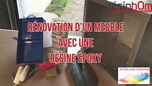 Resine Pour Meuble : r novation d 39 un meuble avec de la r sine poxy resinhom youtube ~ Carolinahurricanesstore.com Idées de Décoration