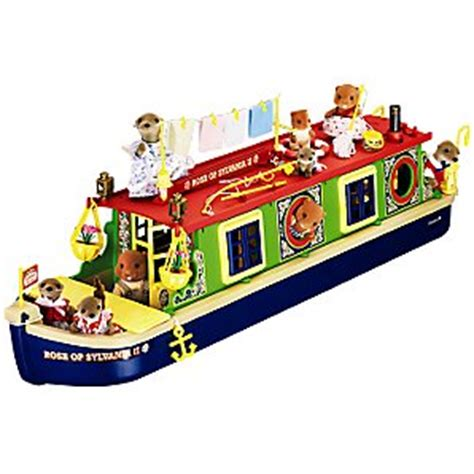 Sylvanian Families Canal Boat by Sylvanian Families Calico Criiters Riverside Canal Boat