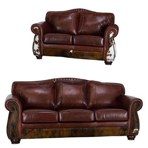 rustic brown leather sofa von furniture leathercowhide rustic sofa set in dark brown