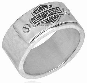 harley davidson sz10 sterling mens ring hammered bar With mod harley davidson wedding rings