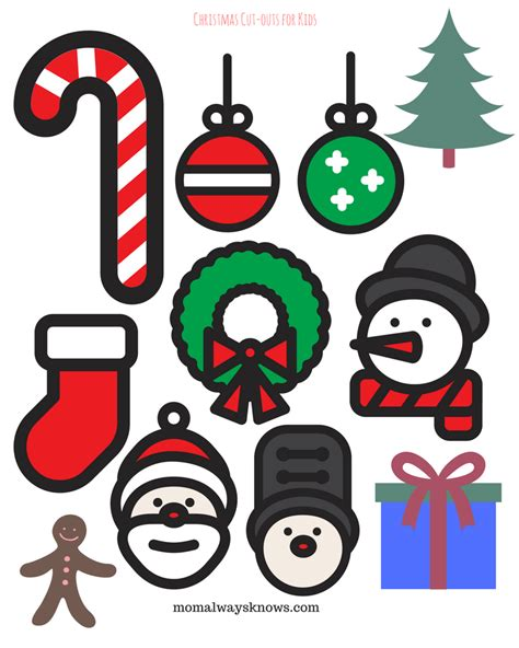 printable christmas decorations cut outs psoriasisgurucom