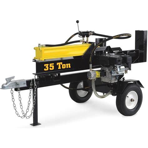 35 ton 9 5 hp log splitter 49 states lawn garden log splitters