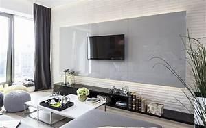 Weiß Grau Wohnzimmer : wandgestaltung im wohnzimmer 85 ideen und beispiele ~ Indierocktalk.com Haus und Dekorationen