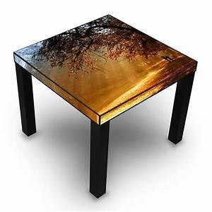 Table D Appoint Cuisine : table d 39 appoint noir avec motif dor l 39 automne amazon ~ Melissatoandfro.com Idées de Décoration