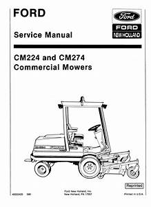 Ford Cm224  Cm274 Mowers Service Manual