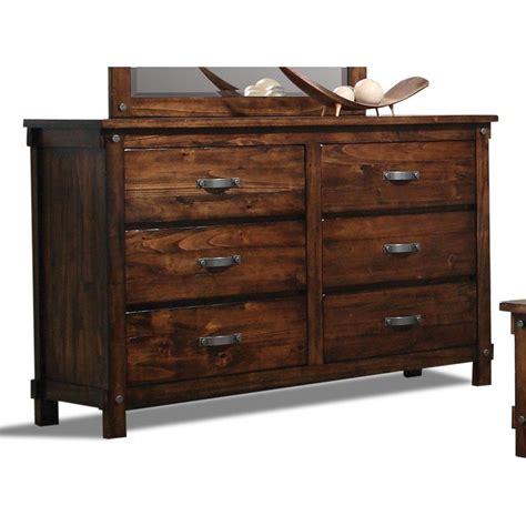 rc willey dresser rustic brown 6 drawer dresser