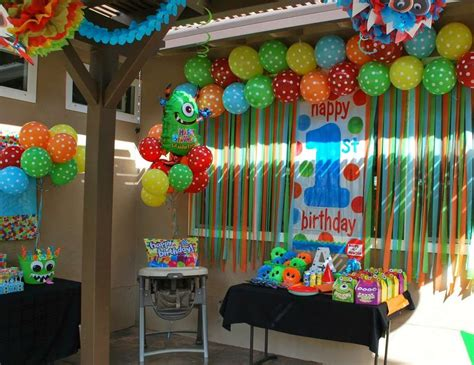 monsters birthday party ideas   isaacs