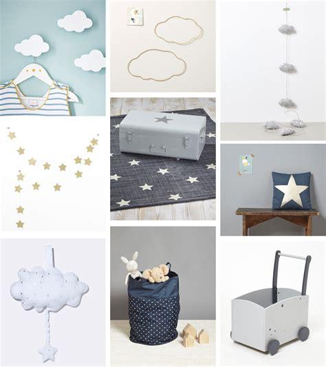 inspiration déco 1 nuages et étoiles pour la chambre de