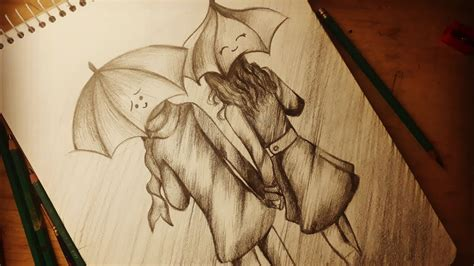 dibujando  una pareja anime  lapiz dibujos de amor youtube
