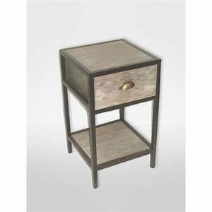 Table De Chevet Metal : table de chevet 35x35 cm loft hauteur 60 cm achat ~ Melissatoandfro.com Idées de Décoration