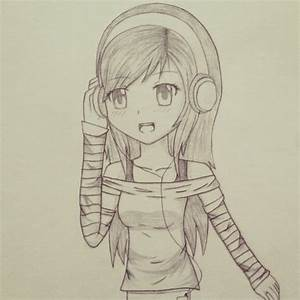 Anime Girl With Headphones by xAngelColorz on DeviantArt