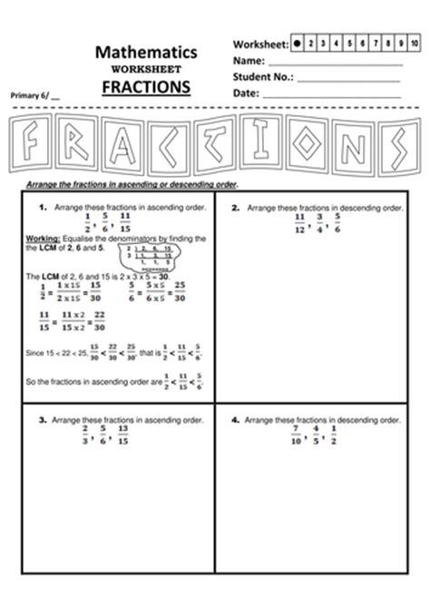 ks arranging fractions  finding  lcm  jinkydabon