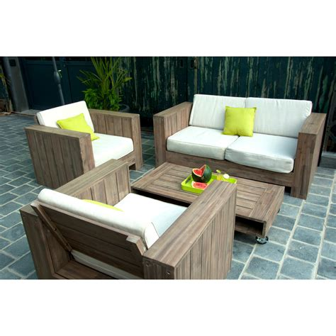 canapé jardin bois canape terrasse pas cher ncfor com