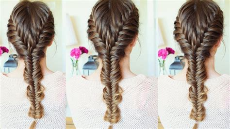 merged french fishtail braid hairstyle how to fishtail