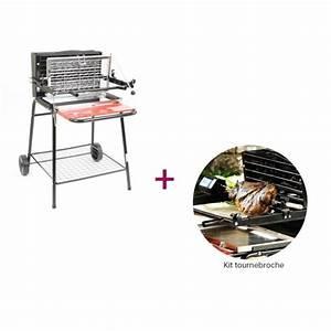 Barbecue vertical SOMAGIC au charbon de bois Raymond + Tournebroche Achat / Vente barbecue