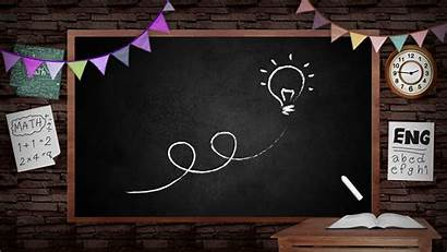 Blackboard Classroom Board Education Background Teacher Animation