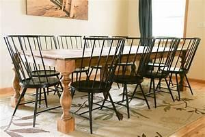 transform, a, contemporary, dining, table, to, a, farmhouse, table
