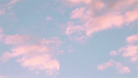 Pink Evening Clouds Stock Footage Video (100% Royalty free