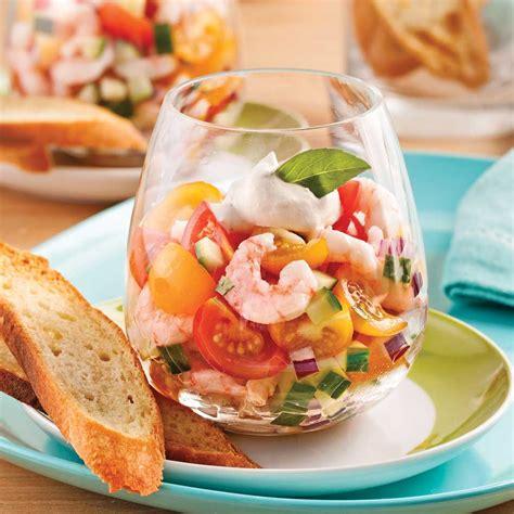 cuisine recettes pratiques tartare de tomates et crevettes en verrine recettes