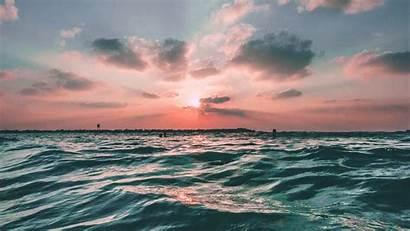 Sea Ocean Sunset Sky Water Nature Desktop