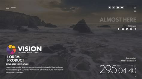 vision creative template  coming  page  mivfx