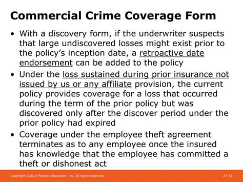 For many small businesses, while there is risk of external bad actors at play, more often than not, employee dishonesty and theft are among the. PPT - Chapter 27 Crime Insurance and Surety Bonds PowerPoint Presentation - ID:1780124