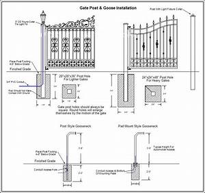 diagrams plans precision gate services With driveway gate plan view diagrams drawings electric gate layouts