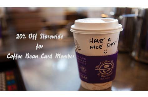 02301 Coffee Bean And Tea Leaf Promo Code by Coffee Bean Tea Leaf 20 Storewide 11 28 May
