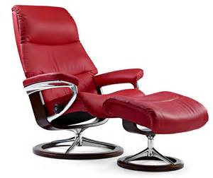 ekornes stressless view medium leather recliner and ottoman metro chair lounger ekornes