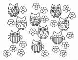 Owl Coloring Bird Pages Cute Printable Baby sketch template