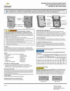 Hnf60r Installation Instructions Air Conditioner