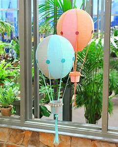 Papier-Mache Hot Air Balloons & Video Martha Stewart