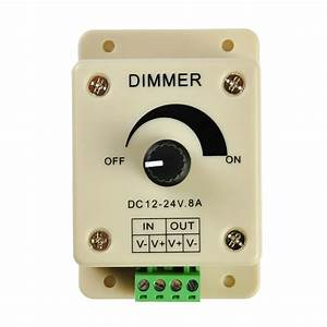 Manual Dimmer Switch For Led Strip Light  12v 8a Mountable