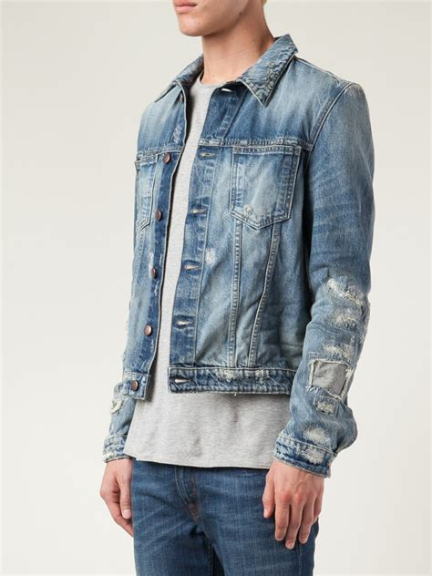 Lyst - Closed Distressed Jean Jacket in Blue for Men