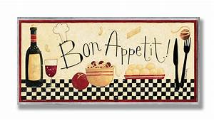 Stupell home bon appetit kitchen wall plaque new free