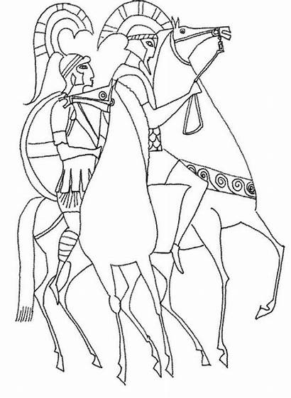 Coloring History Pages Greece Printable Popular