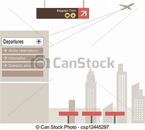 EPS Vectors of Baggage claim sign at airport - This ...