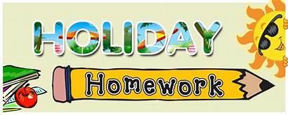 Homework Holiday Summer Clipart Assignment Parents Chennai