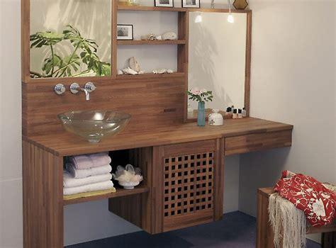 plan de travail en bois massif salle de bain plan de travail de salle de bain moderne fonc 233 en bois massif
