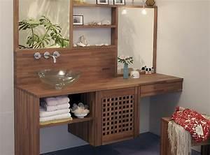 salle de bain plan de travail de salle de bain moderne With plan de travail bois salle de bain
