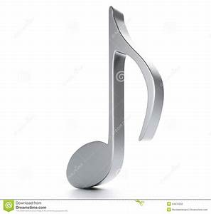 Music Note 3D. On White Background Stock Illustration ...
