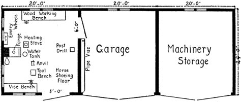 farm shop with living quarters floor plans woodworking p free machine shed plans blueprints