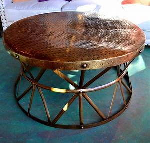 hammered copper coffee table coffee table design ideas With hammered brass coffee table