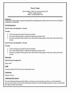 Simple resume template 46 free samples examples for Reseume template