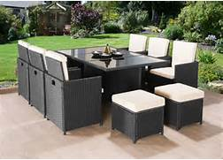 Outdoor Patio Furniture With Bench Seating by CUBE RATTAN GARDEN FURNITURE SET CHAIRS SOFA TABLE OUTDOOR PATIO WICKER 10 SE