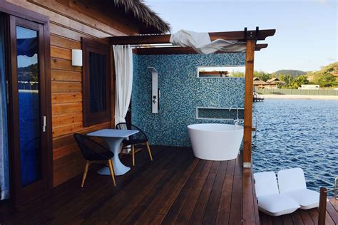 overwater bungalows   sandals grande st lucian